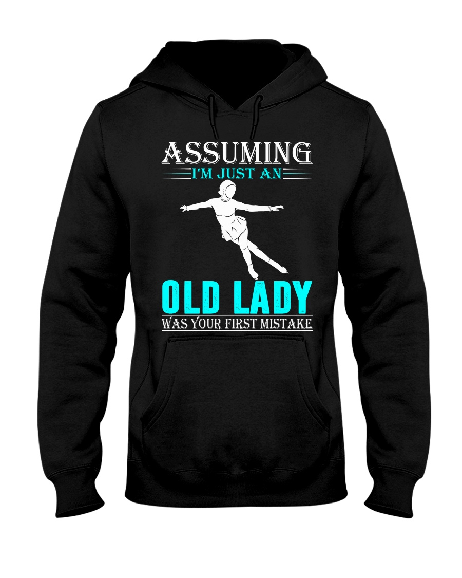 Figure skating old lady Hooded Sweatshirt