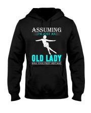 Figure skating old lady Hooded Sweatshirt front