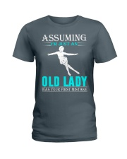 Figure skating old lady Ladies T-Shirt thumbnail