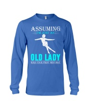 Figure skating old lady Long Sleeve Tee thumbnail
