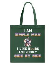 Man and hockey Tote Bag thumbnail