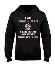 Man and hockey Hooded Sweatshirt front