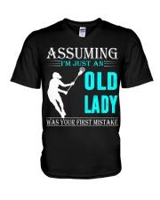 Lacrosse lady V-Neck T-Shirt thumbnail