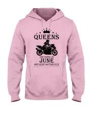 queens motorcycle-june Hooded Sweatshirt front