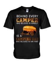 camping with dad V-Neck T-Shirt thumbnail