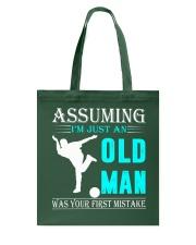 bowling old man Tote Bag thumbnail