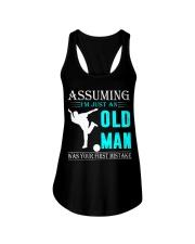 bowling old man Ladies Flowy Tank thumbnail