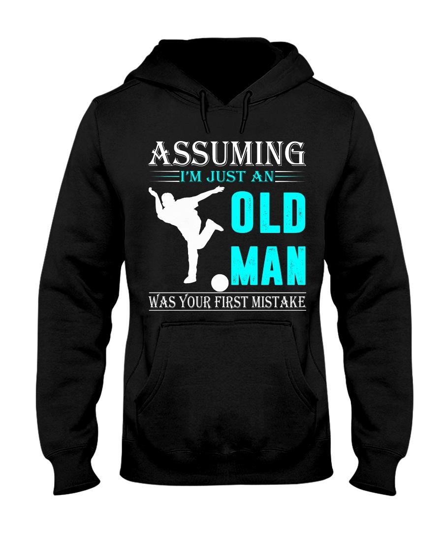 bowling old man Hooded Sweatshirt