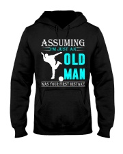 bowling old man Hooded Sweatshirt front