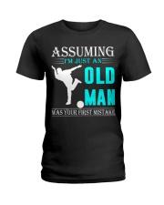 bowling old man Ladies T-Shirt thumbnail