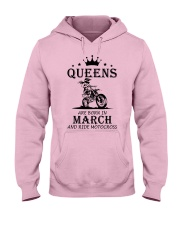 queens motocross-march Hooded Sweatshirt front