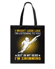 swimming in my head Tote Bag thumbnail
