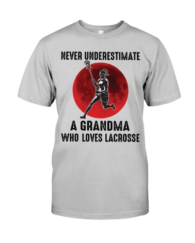 a grandma with lacrosse