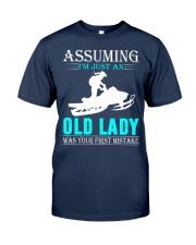 snowmobile old lady Classic T-Shirt thumbnail