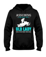 snowmobile old lady Hooded Sweatshirt front