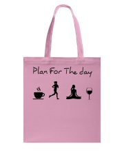 Plan for the day running - yoga Tote Bag thumbnail