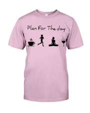 Plan for the day running - yoga Classic T-Shirt thumbnail