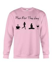 Plan for the day running - yoga Crewneck Sweatshirt thumbnail