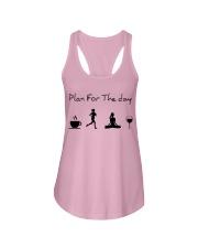 Plan for the day running - yoga Ladies Flowy Tank thumbnail