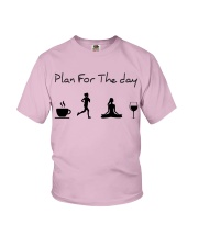 Plan for the day running - yoga Youth T-Shirt thumbnail