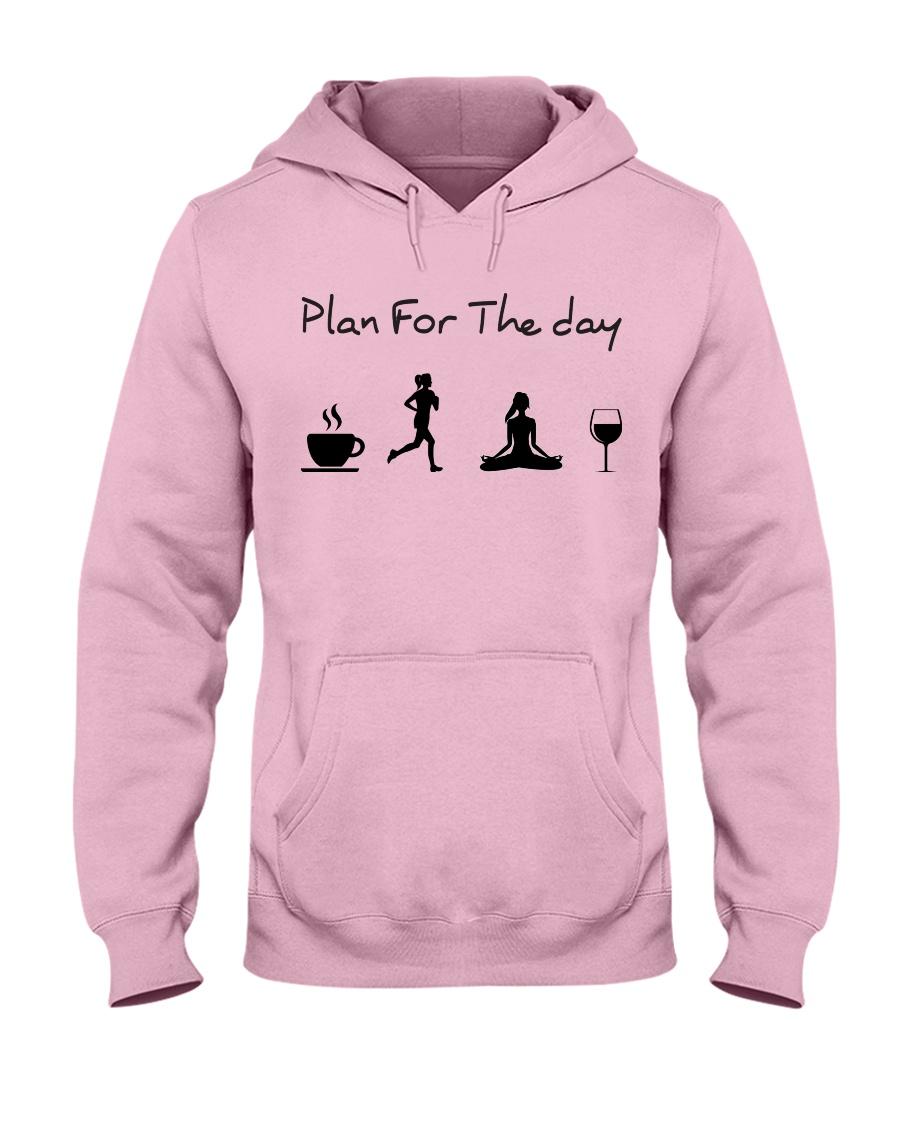 Plan for the day running - yoga Hooded Sweatshirt
