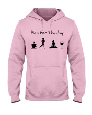 Plan for the day running - yoga Hooded Sweatshirt front