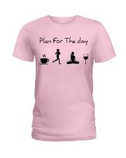Plan for the day running - yoga Ladies T-Shirt thumbnail