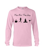 Plan for the day running - yoga Long Sleeve Tee thumbnail
