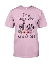 I'm a dog and wine kind of girl Classic T-Shirt thumbnail