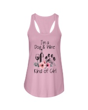 I'm a dog and wine kind of girl Ladies Flowy Tank thumbnail