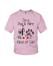 I'm a dog and wine kind of girl Youth T-Shirt thumbnail