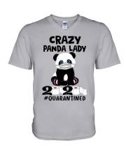 panda quarantined V-Neck T-Shirt thumbnail