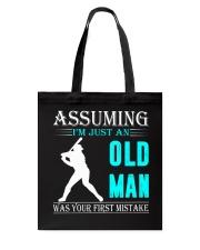 Softball old man Tote Bag thumbnail
