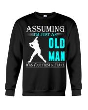 Softball old man Crewneck Sweatshirt thumbnail