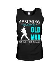 Softball old man Unisex Tank thumbnail
