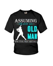 Softball old man Youth T-Shirt thumbnail