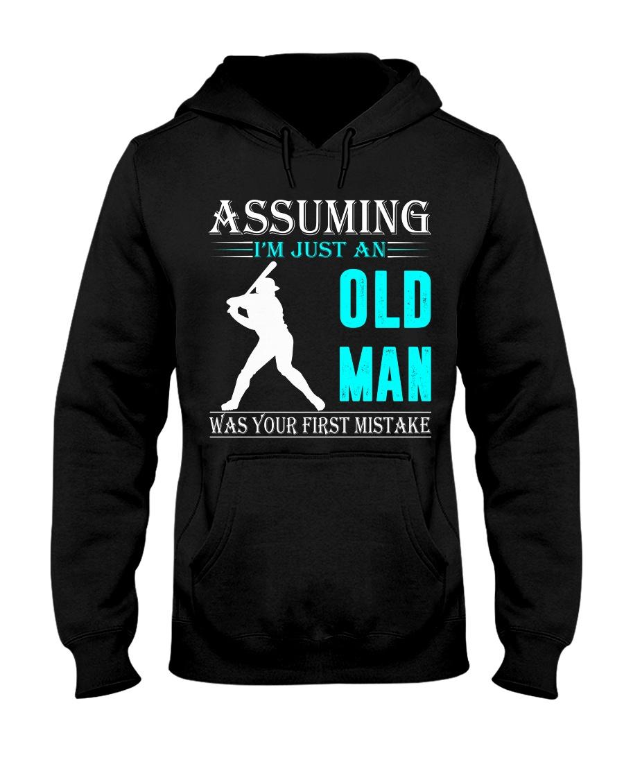 Softball old man Hooded Sweatshirt