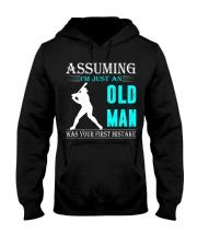 Softball old man Hooded Sweatshirt front