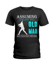 Softball old man Ladies T-Shirt thumbnail