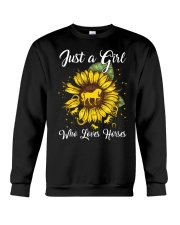 girls love horses and sunshine Crewneck Sweatshirt thumbnail