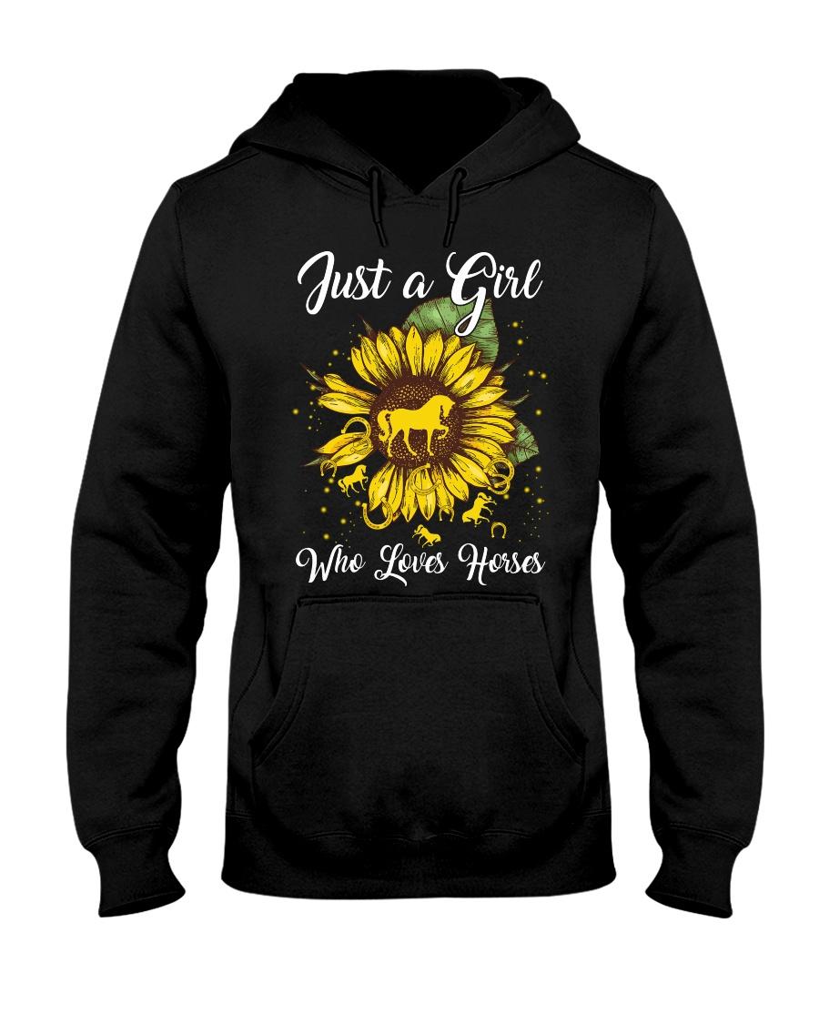 girls love horses and sunshine Hooded Sweatshirt