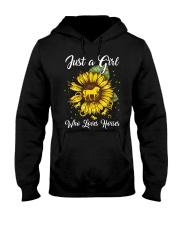 girls love horses and sunshine Hooded Sweatshirt front