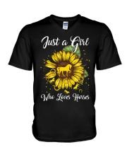 girls love horses and sunshine V-Neck T-Shirt thumbnail