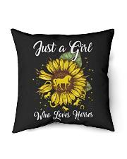 "girls love horses and sunshine Indoor Pillow - 16"" x 16"" thumbnail"