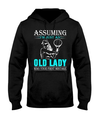 tennis old lady - n002