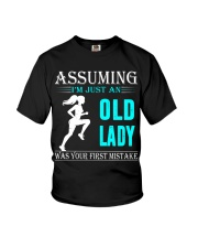 jogging old lady Youth T-Shirt thumbnail