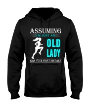 jogging old lady Hooded Sweatshirt front