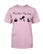 Plan for the day show jumping with spirits Classic T-Shirt thumbnail