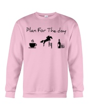 Plan for the day show jumping with spirits Crewneck Sweatshirt thumbnail