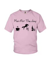 Plan for the day show jumping with spirits Youth T-Shirt thumbnail